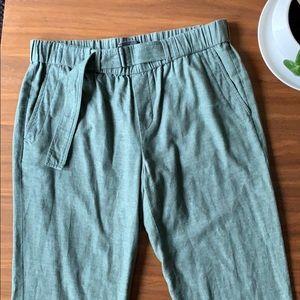 Vince Sage Green Cotton Pants Size Medium